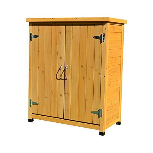 ZHOUAICHENG Gartenschrank Hut Shed Regensicheres Antiseptisches Verzinktes Dachsicherungsschrank Für Massivholzwerkzeuge 75 * 40 * 90CM
