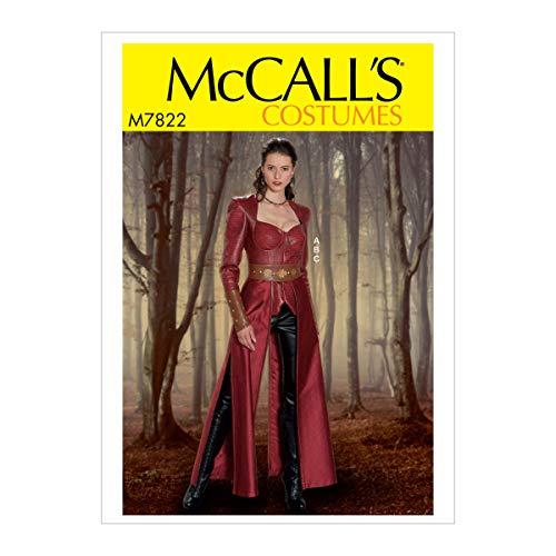 McCall's Patterns MCC 7822 McCall's M7822 Schnittmuster für Damen, Jacke, Stulpen & Überrock, Kostüm, Größe 34-42, 36-38-12 14