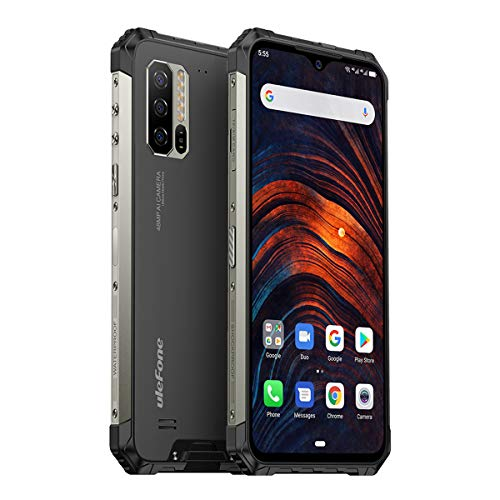 """Ulefone Armor 7 (2020) Rugged Smartphone Unlocked, Android 10, IP68 Waterproof Cell Phones Helio P90 8GB+128GB, 48MP + 2MP + 2MP Triple Camera, 5500mAh QI Wireless Charge, 6.3"""" FHD+, Global Bands, NFC"""