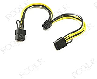 FCQLR para nVIDIA Tesla K80 / M40 / M60 / P40 / P10 / P100 Graphics Card Dual GPU Power Cable 0.2m