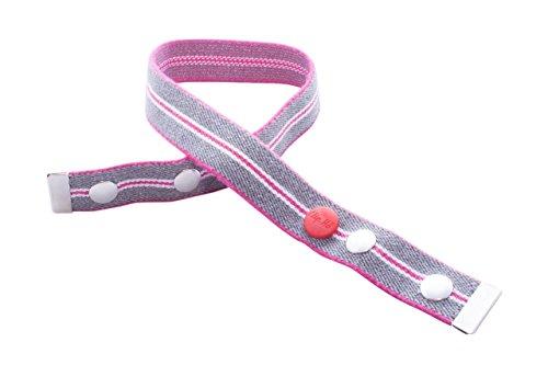 Clip.Ho two ohne Schnalle pink/grau/weiss gestreift (116-122)