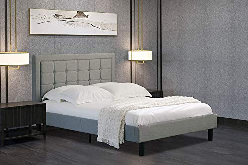 Home Treats Double Grey Duke Bed Frame Available With Deluxe Sprung or Foam Mattress (No Mattress)