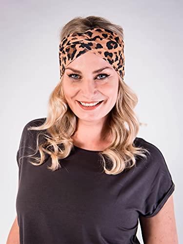 PUFFBIRD® Haarband Leopard   Damen Stirnband aus Bio-Baumwolle (GOTS)   Made in Germany