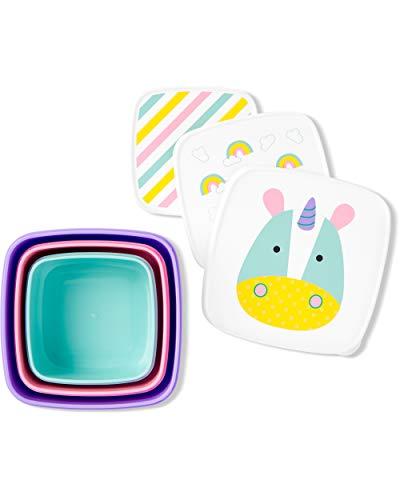 Kit Com 3 Porta Snacks Zoo Unicornio, Skip Hop, Colorido