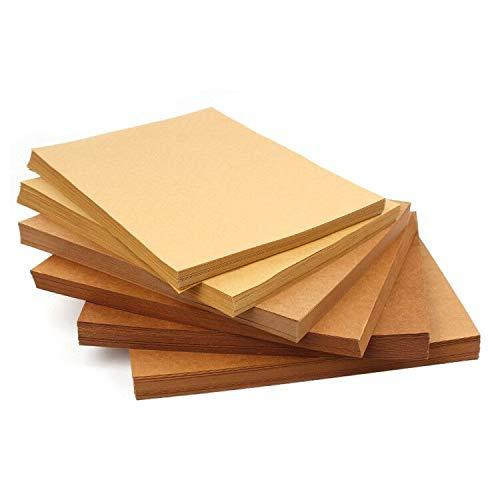 100 Blatt A4 kraftpapier, 120 g/m² Kopierpapier Papier, Origami-Papier Bastel-Papier zum DIY, Basteln Papierblumen, Durchzeichnen und Skizzieren