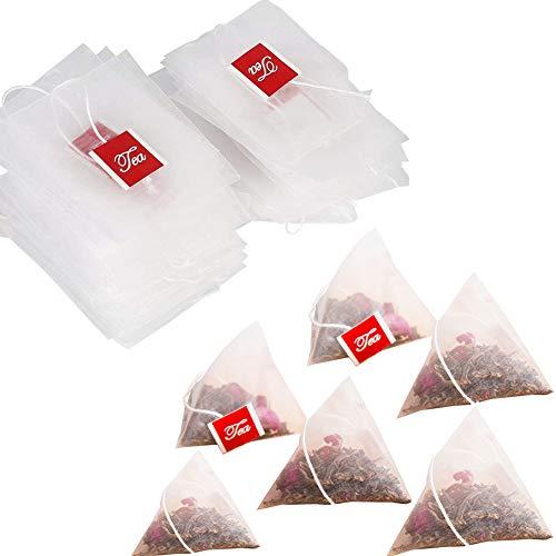 ティーバッグ ドローアライン お茶パック 袋 お茶 ぱっく 水出し 三角コーナー 濾過材 紅茶 麦茶 コーヒー 茶こし 耐熱 (6.5*8*100)