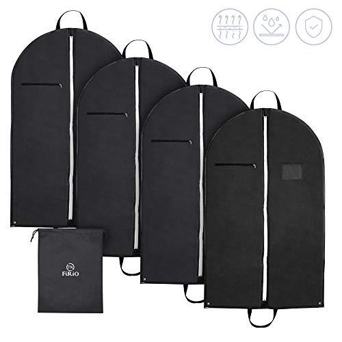 FR FiRiO® 3-in-1 Kleidersack Anzug Schutzhülle (120 GSM) | 4X stabile & hochwertige Kleiderhüllen mit Reißverschluss | 100 x 60 cm | Business Kleidersäcke für Reise & Aufbewahrung | Bonus eBook