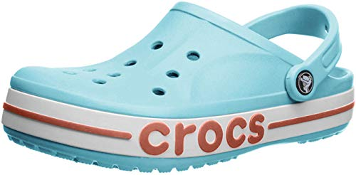 crocs Unisex-Erwachsene Bayaband Clog Flip Flops Freizeit-und Sportbekleidung Adult, Mehrfarbig (Eisblau/Melone), 39/40 EU
