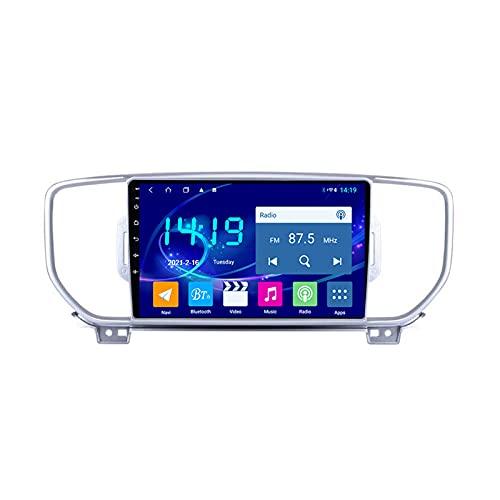 Android 10.0 Autoradio Bluetooth 2 DIN, per Kia Sportage 4 QL 2016-2018 Stereo Auto Radio Vivavoce Lettore MP5 con WiFi+BT+FM+Rear View Fotocamera+Car Multimedia Radio,Octa Core,4G WiFi 2+32