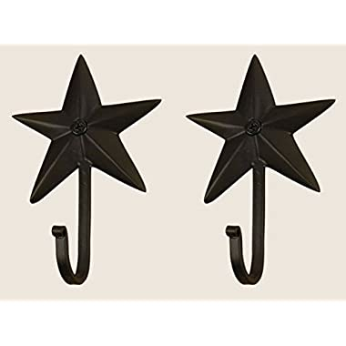 Colonial Tin Works Wrought Iron Star Wall Hooks