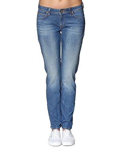 Lee Emlyn Pantalones Vaqueros Delgados, Azul (Authentic Blue Qd), 26W / 33L para Mujer
