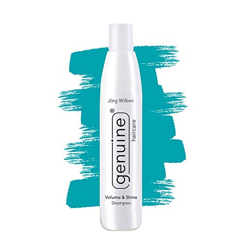 Volumen Feuchtigkeits-Shampoo, ideal für blondiertes, glanzloses, kaputtes, trockenes oder strapaziertes Haar, Volume & Shine genuine haircare