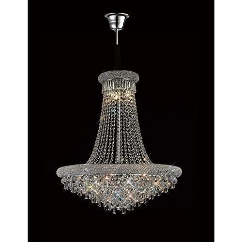 Inspired Diyas - Alexandra - Lámpara de techo colgante de 18 cromo pulido claro, cristal