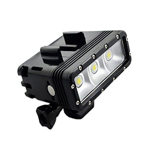 Suptig Unterwater Licht Tauchlampe Unterwasserlampe Dimmbare wasserdichte LED-Videoleuchte 147 Fuss(45m) Kompatibel für Gopro Hero 7 Hero 6 Hero 5 Hero 4 AKASO/Carpak/Dragon Action-Kamera