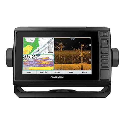 "Price comparison product image Garmin ECHOMAP UHD 73cv,  7"" Keyed-Assist Chartplotter with U.S. LakeVu g3 and GT24UHD-TM transducer"