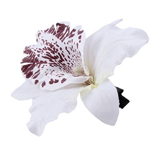 EJY 1PCS Fleur Pince À Cheveux Plage Tenue Accessoire pour Tropical Fantaisie Robe De Mariée Bijoux,Bleu,Blanc