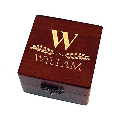 Personalised Brown Wooden Groomsmen Gift box, Jewelry Box, Wedding Gift,...