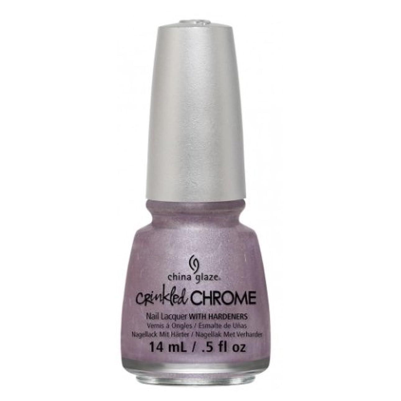 汚れた蓄積する不屈(6 Pack) CHINA GLAZE Nail Lacquer - Crinkled Chrome - Crush, Crush, Baby (並行輸入品)