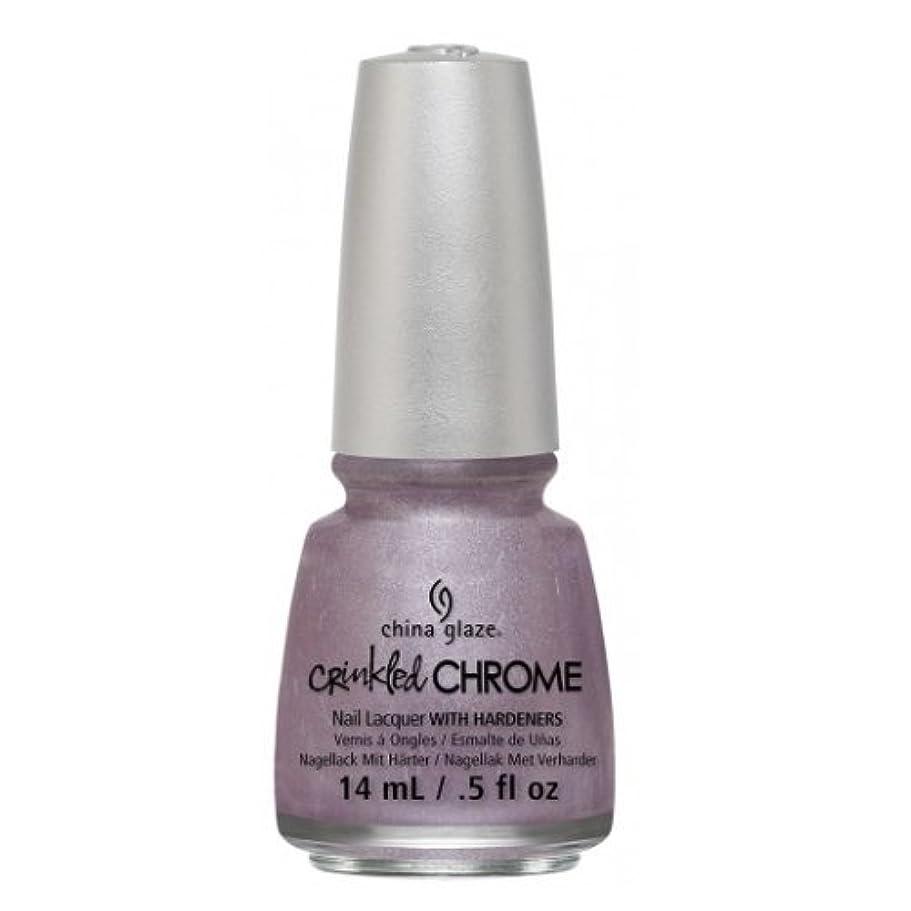 集まる溶ける液体(3 Pack) CHINA GLAZE Nail Lacquer - Crinkled Chrome - Crush, Crush, Baby (並行輸入品)