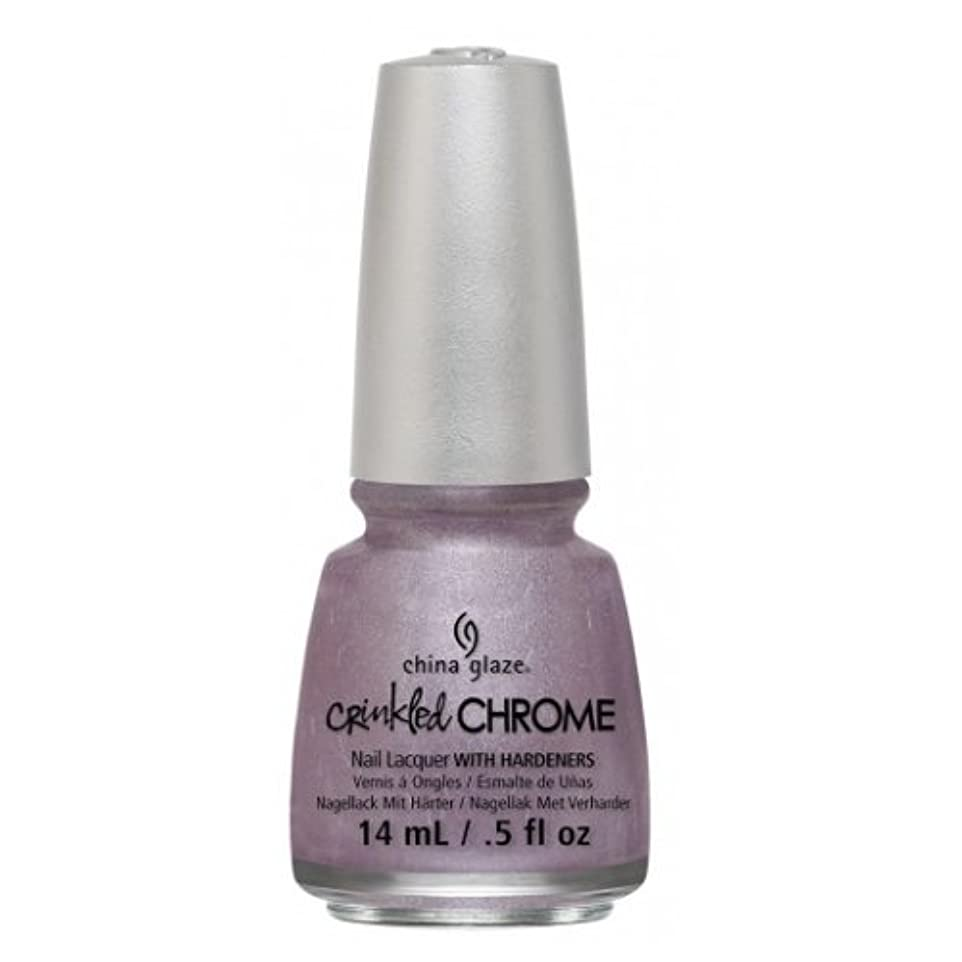ダメージ涙が出るに沿って(6 Pack) CHINA GLAZE Nail Lacquer - Crinkled Chrome - Crush, Crush, Baby (並行輸入品)