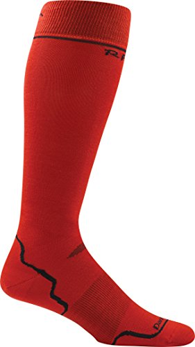 Darn Tough Laine Merino Ski Rfl Ultra Léger Chaussette - Homme - Course Rouge, S