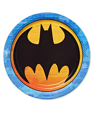 American Greetings Batman Paper Dinner Plates for Kids (40-Count)