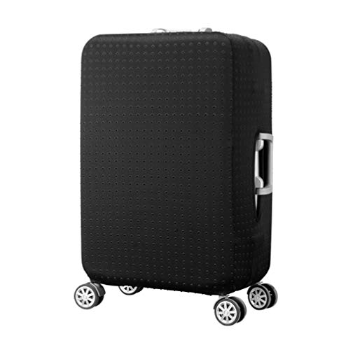 LEAFOREST Spandex Elastic Water Resistant Protective Travel Suitcase Cover Fits 19-32 Inch Black S