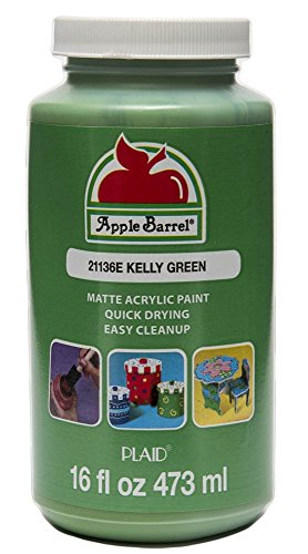 Apple Barrel Acrylic Paint in Assorted Colors (16 Ounce), 21136 Kelly Green