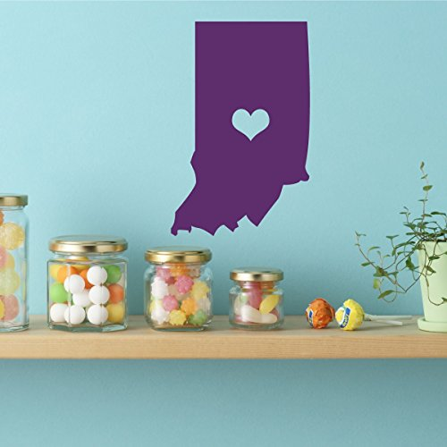 State of Indiana Vinyl Wall Decor - 19th State, Indianapolis Indiana, Hoosier State, Midwestern States