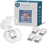 12 Pack Upgraded Anti Snoring Devices, Gutupet 2020 Silicone Magnetic Snore Stopper, Professional Anti Snore Nose Clip Sleeping Aid Device for Men and Women