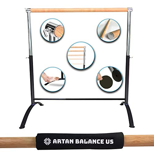 Artan Balance Ballet Barre Portable for Home or Studio, Freestanding...