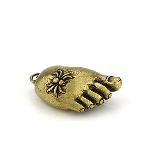 Glover Colgante de pies de Buda de Cobre Puro, Colgante de Llave Changle Contento de latón, Colgante de pies pequeños de araña, Mango de Cobre sólido