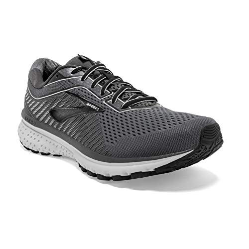 Brooks Mens Ghost 12 Running Shoe - Black/Pearl/Oyster - 2E - 10.0