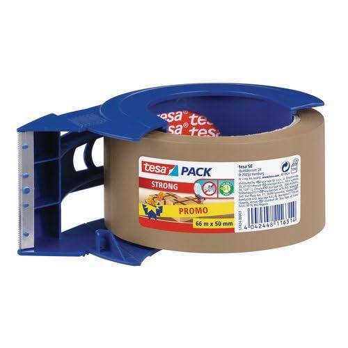 tesapack strong brown 1 x 66m:50mm + blue dispenser