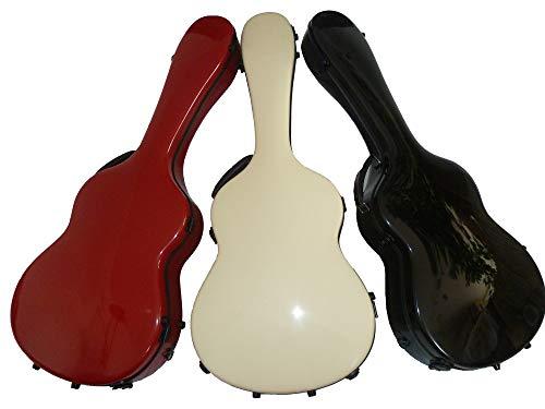 Premium Gitarrenkoffer GFK Konzertgitarre Koffer Gitarre Fiberglas Concert Guitar Case - Singing Dragon (Schwarz-rot)