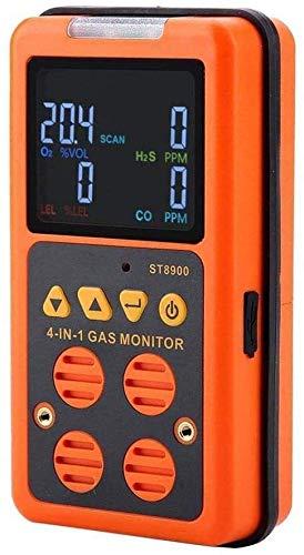 BXU-BG Tragbare 4 in 1 Multi-Gas-Detektor-Monitor Sauerstoff O2 Schwefelwasserstoff H2S Kohlenstoff brennbares Gas LEL Gas Analyzer Air-Monitor Tester Monoxide Meter