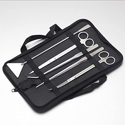 Xiaowen Pinzas creativas para el hogar, herramientas de jardinería para acuarios, pinzas acuáticas kit de acero inoxidable (espejo de 5 piezas)
