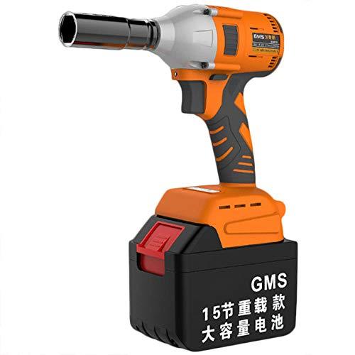 Llave de Impacto a Bateria,Destornillador Inalámbrico (Máximo Par 980 Nm), Llave de Trinquete, luz LED y adaptador de broca para atornillar,Li-ion