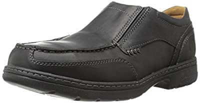 Timberland PRO Men's Branston Alloy Moc Toe S/O ESD Industrial Shoe,Black Distressed Leather,12 M US