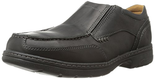 Timberland PRO Men's Branston Alloy Moc Toe S/O ESD Industrial Shoe,Black Distressed Leather,10 W US