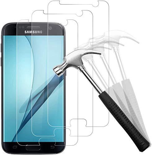 Snnisttek Panzerglas für Samsung Galaxy S7-[3 Stück] Galaxy S7 Panzerglas Schutzfolie-9H Härte Displayschutzfolie, Ultra Kristallklar 99% Transparenz-Schutz vor Kratzen, Öl, Bläschen
