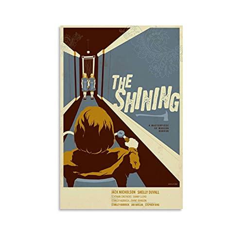 Impression sur toile de film The Shining Vintage Affiche de film rétro 20 x 30 cm