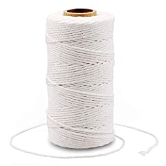 Material: made of 100% cotton, strong and durable. The cotton Baker Twine is 2mm in diameter Length: 328 feet / 100 meters. Christmas color: add a Christmas touch to your gifts, cards and other crafts. Easy to using: roll up neatly, easy to find the ...