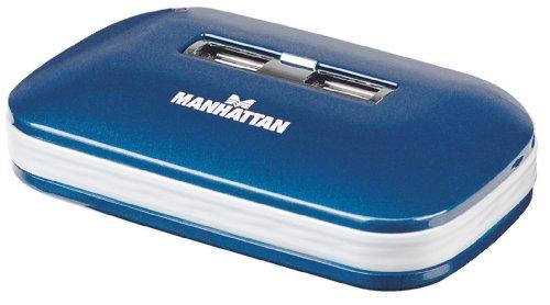 Manhattan Hi-Speed Hub 7 x USB 2.0 Dual Power MTT Bleu