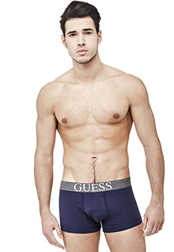Guess Herren Trunk 3 Pack Sportunterwäsche, Mehrfarbig (Stark Navy/After DAR), Medium