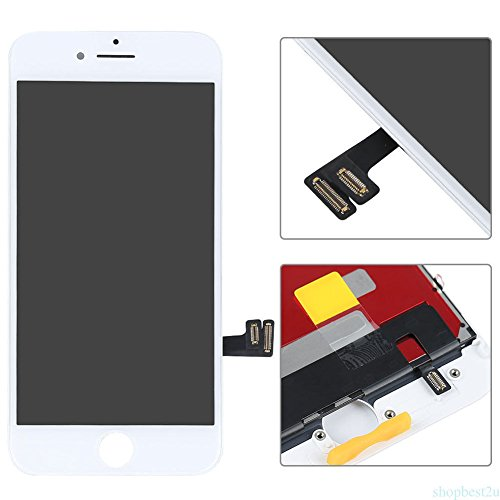 ZTR Replace LCD Glass Screen Fits iPhone 7 Plus 5.5 inch Digitizer Assembly Full Complete Frame Set Display Replacement (White)