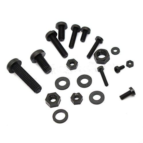 Conjunto de surtido de tornillos y tuercas - SODIAL(R)150Pcs M2 M2.5 M3 M4 M5 conjunto de surtido de tornillos y tuercas espaciadores de Standoff de nylon negro