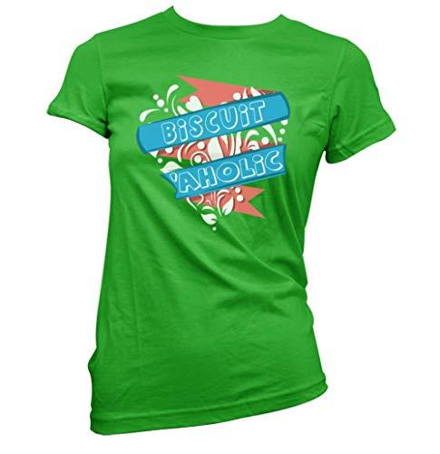 Keks Aholic Damen T-Shirt (Auswahl Farbe und Größe) - Irisch Grün, Mittelgroß (Größe 10)