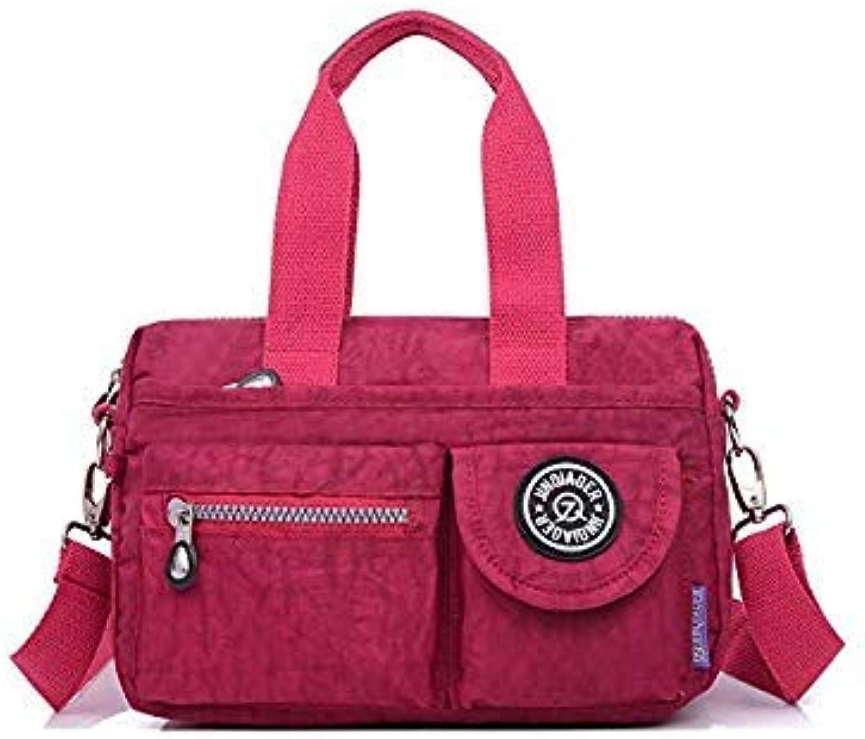 Bloomerang Nylon Bag Women Handbags Large Capacity Women Bag Shoulder Bags Fashion Ladies Handbags 10 color Bolsa de Nylon JQ115 q color Grape Purple 25x10x16CM