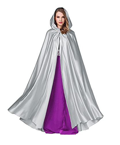 BEAUTELICATE Capa con Capucha Medieval Mujer Abriga Larga para Novia Disfraz De Halloween Navidad Fiesta Carnaval Princesa Cosplay